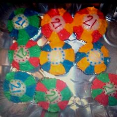 Poker chip cupcakes. 21st birthday/ casino party