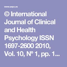 ©  International  Journal  of  Clinical  and  Health  Psychology  ISSN  1697-2600  2010, Vol. 10, Nº 1, pp. 141-165  La Terapia de Aceptación y Compromiso (ACT)  en  el  consumo  de  sustancias  como  estrategia  de  Evitación Experiencial