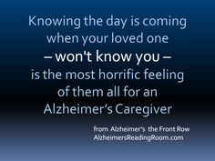 After an incredible outpouring of emotions the caregiver experiences an immediate sense of relief that they are not alone.