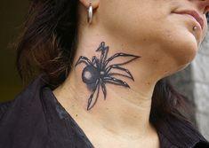 Spider Tattoo Designs Healed by declantransam Tattoos Black Widow Spider Tattoo, 3d Spider Tattoo, Spider Drawing, Wolf Tattoos, 3d Tattoos, Black Tattoos, Airbrush Tattoo, Japan Design, Animals Tattoo