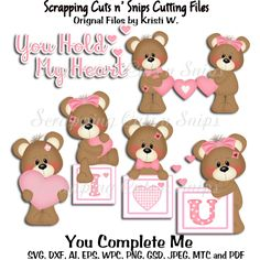 You Complete Me 2016 Cutting Files