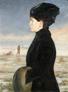 Wlastimil Hofman, Portret żony, 1916, Muzeum Narodowe we Wrocławiu