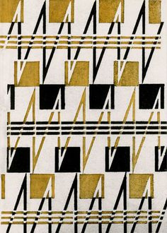Textile design by Soviet artist Varvara Stepanova (1894-1958)