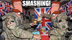 Inside a British Army tank