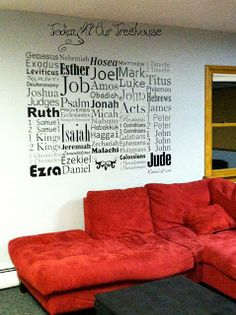 Books of the Bible Wall Art | Today at Our Treehouse