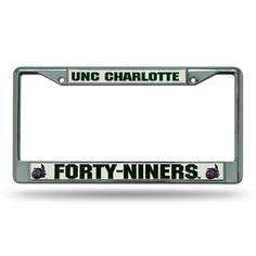 North Carolina Charlotte 49ers NCAA Chrome License Plate Frame