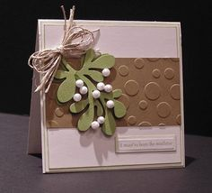 Add mistletoe to your Christmas cards when you make this great Christmas card craft. These handmade cards are fabulous fun Christmas crafts.
