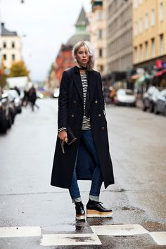 Photos via: Stockholm Streetstyle Crazy cool street style look from Sweden. Love the mix of the...
