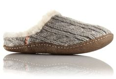 Stay warm when the temperature drops with these ultra-cozy slippers featuring a beautiful cable knit upper and natural rubber sole for durability.