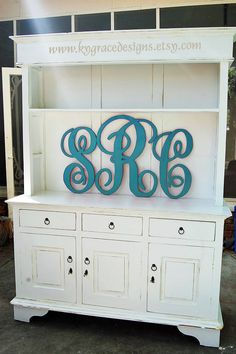 Hand cut Handpainted set of Monogram letters by kygracedesigns. Love this Etsy shop!  Need to find somewhere for this in my house!