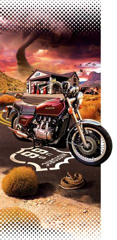 Goldwing GL 1000 pour Gold Force One. on Behance