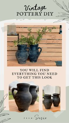 Pottery Pots, Old Pottery, Vintage Pottery, Pottery Marks, Pottery Clay, Thrown Pottery, Pottery Studio, Diy Crafts For Home Decor, Diy Crafts To Sell