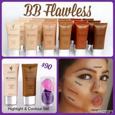 Highlight & Contour Set Bring out your best with two BB Flawless Complexion Enhancers in your choice of shades, plus a set of reusable Blending Buds for seamless highlighting and contouring. YouniquelyAmandaChristine.com