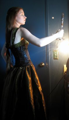 Lady Margaret, the 400-year-old 'Green Lady' ghost of Leadale Castle. (Model: Courtney Simonds)