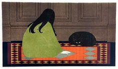 Cover art for the book - 'The Lives of Girls and Women' written by Alice Munro: Art by Will Barnet. Black Cat Art, Original Prints, Fine Art, Barnet, Contemporary Fine Art, Cover Art, Contemporary Art, Prints, American Artists