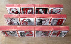Personalized WEDDING TABLE Numbers-set of 30 LARGE Photo Blocks. $300.00, via Etsy.