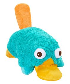 Take a look at this Perry the Platypus Plush Pillow Pet on zulily today! Disney Pillow Pets, Perry The Platypus, Phineas And Ferb, Animal Pillows, Rubber Duck, Plush Pillow, Gifts For Girls, Plushies, Kids Toys