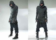 Demobaza Men AW13 Raw Hoody MothOver Cube MacNeo Fit Line