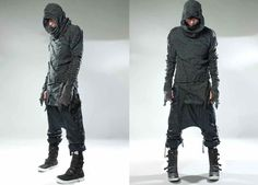 Demobaza Men AW13 Raw Hoody MothOver Cube MacNeo Fit Line