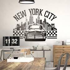 Imagen relacionada New York Taxi, New York City, Empire State Building, Gym Decor, Painting Tools, Skyline, Wall Art, Room, Wall Ideas