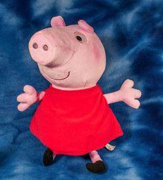 """Fisher Price HUG n OINK PEPPA PIG Plush 12"""" Laughing Talking GIGGLES Mattel 2011 #FisherPrice"""