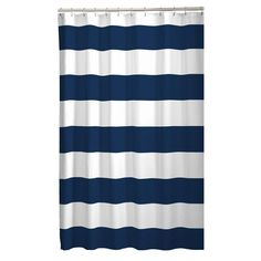 Maytex 70 in. x 72 in. Porter Stripe Fabric Shower Curtain, Multi