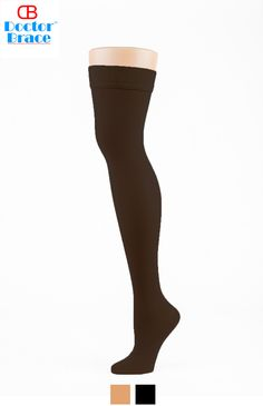a94da3066e Women Thigh High Compression stockings 20-30 mmhg - Available in Beige or  Black.