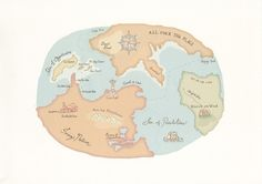 Map of Imagination - inspirational imaginary places by Villa Figura
