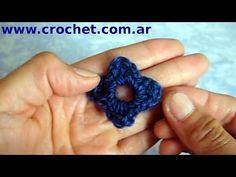 Flor N° 4 en tejido crochet tutorial paso a paso.