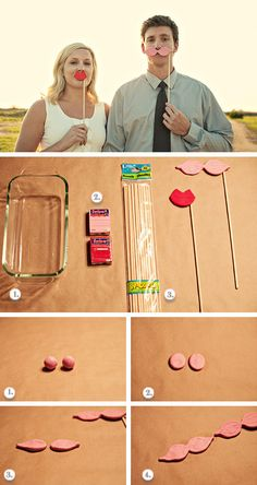 Bigotes y labios divertidos en Ideas de como planificar, organizar y decorar bodas y enlaces