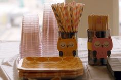 Gray, Yellow, and Pink Owl Baby Shower.  Owls by Pinwheel Lane on etsy.