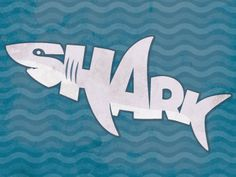 Screen shot 2015 05 20 at pm, word art Word Drawings, Animal Drawings, High School Art, Middle School Art, Illustrated Words, Shark Logo, School Art Projects, Logo Design Services, Teaching Art