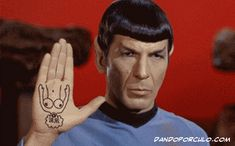 live long and prosper sign ? You'll never see this the same way again !!!!