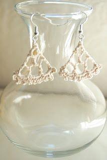 Chandelier Earrings - Free Crochet Pattern