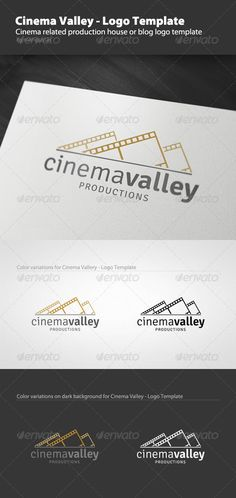Cinema Valley - Logo Template by Mangustas Cinema related production house or blog logo template. 100 Editable & Resizable The logo is layered and created from 100 vector