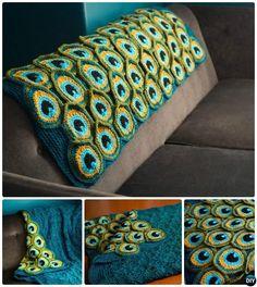 Crochet Peacock Blanket Pattern-10 Crochet Peacock Projects Free Patterns