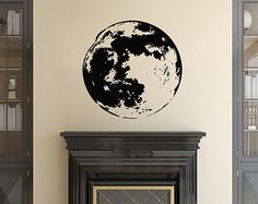 Wall Decals Moon Planet Space Home Vinyl Decal Sticker Kids Nursery Baby Room Decor 408