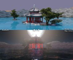 [MMD Stage DL] Mid Lake Pavilion by RedialC