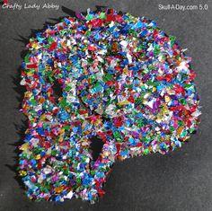 Crafty Lady Abby: Skull-A-Day 5.0 - Tutorial - Dia de la Abby: #68 Confetti Skull