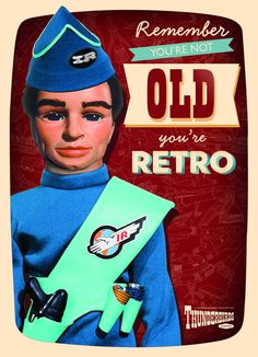 Thunderbirds Retro Birthday Card from The Gerry Anderson Store