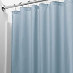 InterDesign Mildew-Free Water-Repellent Fabric Shower Curtain, 72-Inch by 72-Inch, Slate Blue