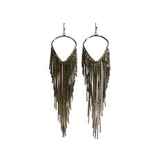 Jules Smith COACHELLA FRINGE EARRINGS ($45) ❤ liked on Polyvore featuring jewelry, earrings, yellow gold, boho chic jewelry, vintage jewellery, vintage gold tone jewelry, jules smith earrings and gold tone jewelry