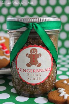 Gingerbread Sugar Scrub + FREE Printable Gift Tag cup Sugar cup Brown Sugar cup Coconut Oil tsp Vanilla tsp Almond tsp Cinnamon tsp All Spice tsp Ginger tsp Nutmeg Sugar Scrub Recipe, Sugar Scrub Diy, Sugar Scrubs, Salt Scrubs, Body Scrubs, Homemade Christmas, Christmas Fun, Christmas Gingerbread, Free Printable Gift Tags