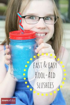DIY EASY KOOL-AID Slushies from MomAdvice.com.