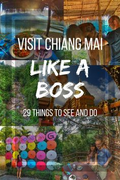 Thailand Travel Bucketlist for Chiang Mai. A comprehensive list of amazing top rated things to do on your visit to Chiang Mai. Everything from elephant encounters, umbrella village, unique cafes, Buddhist Temples, and waterfalls to see. Check out what you shouldn't miss when in Chiang Mai, Thailand: https://togethertowherever.com/what-to-see-do-chiang-mai/