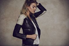 Free people Doma Quilted Colorblocked Jacket - $884.60 - http://www.freepeople.com/whats-new/quilted-colorblock-leather-jacket/