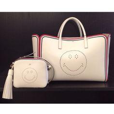Shopping bag and shoulder bag by Anya Hindmarch at #ilduomonovara #smiley #have a nice day