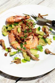 Bouquet de crevettes roses & grises aux Mousserons - Les Cuisines de Garance