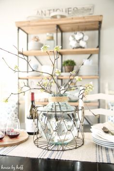 Blooming Spring Tablescape via House by Hoff