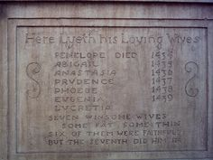 Unusual tombstone epitaph - makes you wonder how they died - one each year???